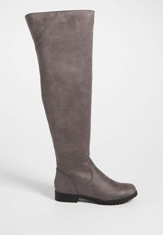 Sydney faux suede over the knee boot in gray | maurices