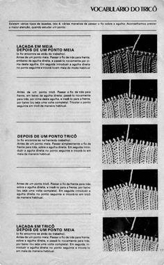 Receita de Tricô: Vários tipos de laçada em tricô