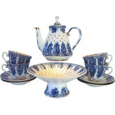 Lomonosov Baskets 11 Piece Tea Set