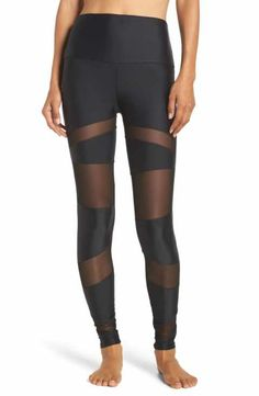 dfa9b64c6fa229 Onzie Mesh Inset Leggings Cross Leggings