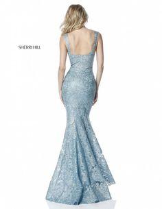 2136f62e7e1 Sherri Hill 51571 Fitted Lace Prom Gown