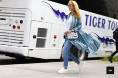 Street Style of Elina Halimi wearing Louis Vuitton and Celine during New York Fashion Week Spring Summer 2016.