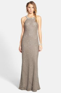 Free shipping and returns on Adrianna Papell 'Caviar' Illusion Back Beaded Gown at Nordstrom.com. Shimmering beads brighten a smoky gown designed with shapely cut-in shoulders and a stunning illusion back panel for a breath-taking finish.