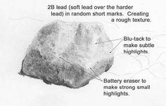 landscape drawing tutorial, learn to draw rocks