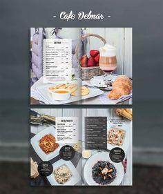 Photo & design for restaurant menu cafe Delmar. Still life for menu, photo…