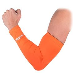 5e6fe5aec70 COOLOMG Anti UV Armschoner Arm Sleeve Anti Rutsh für Erwachsene Kinder  Sports Basketball Power Shootor XS-XL 1 Stück  Amazon.de  Sport   Freizeit
