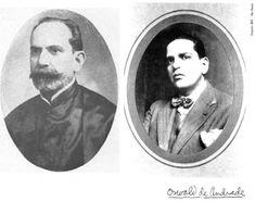À esquerda Herculano Inglez de Sousa e, à direita, o sobrinho Oswald de Andrade