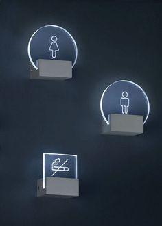 Signage Wc Icon, Wayfinding Signs, Directional Signage, Deco Led, Sign System, Environmental Graphic Design, Displays, Signage Design, Led Lampe
