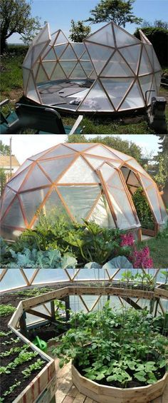"""21 DIY Greenhouses with Great Tutorials: Ultimate collection of THE BEST tutorials on how to build amazing DIY greenhouses, hoop tunnels and cold frames! Lots of inspirations to get you started! - A Piece of Rainbow Find more in board """"Garden"""" on Greenhouse Plans, Greenhouse Gardening, Outdoor Greenhouse, Small Greenhouse, Greenhouse Wedding, Homemade Greenhouse, Greenhouse Shelves, Geodesic Dome Greenhouse, Bucket Gardening"""