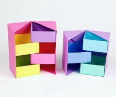 Origami Secret Stepper Boxes  tutorial: https://youtu.be/q8nX91GxLBU  #origami #box #origamibox #stepperbox #paper #crafts #tutorial #diy #paperkawaii