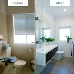 Another great before and after shot from @Texturestudi0 in WA. You can see that the layout has stayed the same and the products are in the same spots but what a difference! Love that Cibo Uber vanity unit paired with Mizu Bliss taps. Update the tiles and let the light in and it's a much brighter and fresher space.