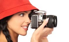 female photographer, holding an SLR camera and wearing a red hat Make And Sell, How To Make Money, Beauty Salon Design, Career Options, Female Photographers, Young And Beautiful, Beauty Art, Female Images, Makeup Videos
