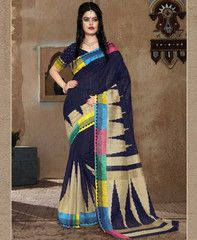 Navy Blue Color Bhagalpuri Casual Wear Sarees : Kshama Collection  YF-41286