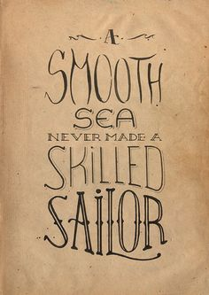 Hand drawn type / typography / graphic design / design / sailor / navy / ink
