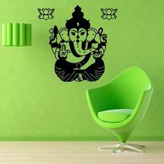 Wall Decals Yoga Indian Ganesha Mandala Vinyl Sticker Murals Wall Decor KG101