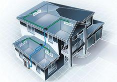 Vetranie a rekuperácia. Dodáme vám komplexný systém vetrania s rekuperáciou vzduchu pre domy a komerčné budovy s možnosťou doplnenia o chladenie, kúrenie.