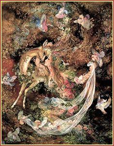 Mahmoud Farshchian: Yearning To Be Caressed, Persia, Persian Miniature Art Print Fantasy Paintings, Fantasy Artwork, Tumblr Art, Illustration Art, Illustrations, Iranian Art, Goddess Art, Fairytale Art, Classical Art
