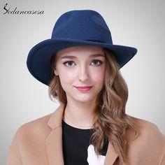Female Fedora Hats England Casquette Vintage Men Womens Fedora Hats with Unique Australian Wool Felt Hats Like it? #shop #beauty #Woman's fashion #Products #Hat