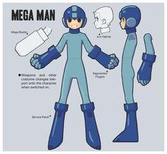 Mega Man Design Illustration by Marty Seefeldt