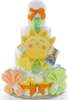 You are My Sunshine - Light-Up Diaper Cake - web site with all kinds of diaper cakes Baby Shower Diapers, Baby Shower Cakes, Baby Shower Themes, Baby Shower Gifts, Baby Gifts, Shower Ideas, Diaper Crafts, Sunshine Baby Showers, Nappy Cakes