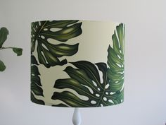 """Monstera"" or ""Fruit Salad Plant"" Lampshade. Yay for tropical interiors!"