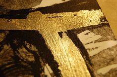 Steph Houstein: Work in progress. Etching & mixed media detail 2015