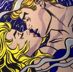 Roy Lichtenstein. You could do a whole series on this image- just sayin.