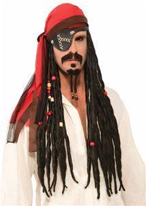 Pirate Headscarf with Dreads Wig - 353472   trendyhalloween.com #trendyhalloween #wigs