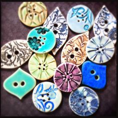 Porcelain buttons by Round Rabbit.