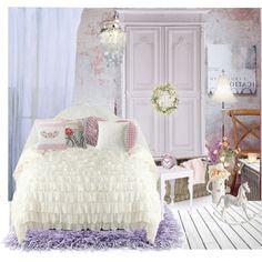 """Pastel bedroom"" by suzieladybug on Polyvore"