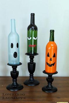 DIY Halloween : DIY Halloween Wine Bottles