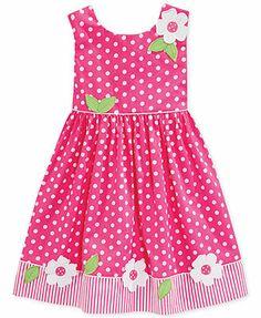 Blueberri Boulevard Little Girls' Polka Dot Sundress