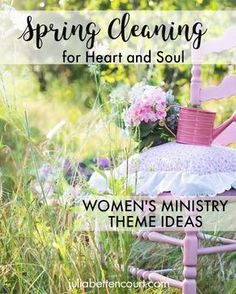 Spring Cleaning Women's Ministry Theme Womens Ministry Events, Christian Women's Ministry, Mother's Day Theme, Ladies Luncheon, Ladies Party, Church Events, Spring Theme, Event Themes, Spring Crafts