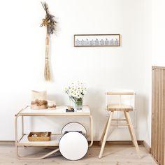 Alvar Aalto tea trolley and tiles by Atelier des Cent-ans
