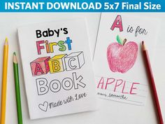 ABC Book Baby Shower Activity Alphabet Baby Book Shower Game
