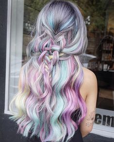 94 Awesome Pastel Hair Color Ideas for Coolest Pastel Hair Colors that Brighten Your Look, Inspiring Pastel Hair Color Ideas Bold Hair Simple, 28 Rainbow Hair Colors Ideas Page 13 Of 28 Ninja Cosmico, 21 Pastel Hair Ideas You Ll Love Прически. Pretty Hairstyles, Braided Hairstyles, Latest Hairstyles, Hairstyle Ideas, Hairstyles Haircuts, Cotton Candy Hair, Coloured Hair, Mermaid Hair, Crazy Hair