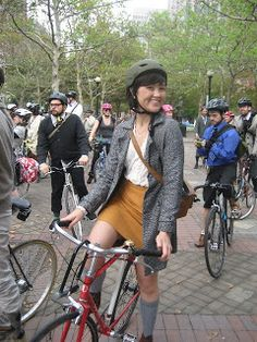 ThisOn the theory that late is better than never, I have some pictures of the tweed ride. The weather despite being awful and muggy in the . Classy Lady, Classy Women, Tweed Ride, Bicycling, Biking, Heels, Skirts, Fashion, Cycling