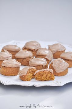 These bite sized frosted pumpkin cookies are my favorite fall treat. The perfect fall treat! Pumpkin Pie Recipes, Cookie Recipes, Snack Recipes, Dessert Recipes, Easy Recipes, Top Recipes, Dessert Ideas, Easy Meals, Pumpkin Cookies