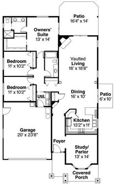 Bergstrom - 30-206 - Craftsman Home Plan - Floor Plan