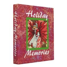 Poinsettia Lady Holiday Memories binder from Jan4insight* -  Perfect for collecting holiday photos, recipes, and more. $19.85 as shown