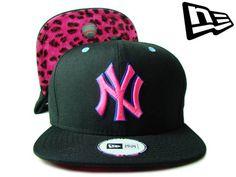 ニューエラ  NEW ERA SNAPBACK NEW YORK YANKEES レオパード アンダーバイザー NY  ブラックXブルーXピンク スナップバック  ニューヨーク・ ... a02e64c0418