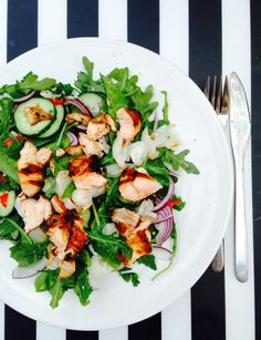 Crisp Salmon, Lychee, Coriander and Chilli Salad - Dutchess Roz