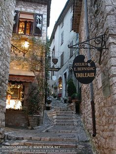 St. Paul de Vence, France  Loved walking through all of the neat passageways!