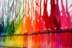 Melted Crayon Wall Art Craft for Kids