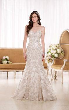 D1869 Satin Trumpet Wedding Dresses by Essense of Australia