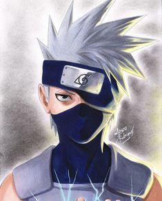 Qual a nota do kakachi ? Kakashi Drawing, Naruto Drawings, Anime Drawings Sketches, Cool Art Drawings, Anime Sketch, Kakashi Hatake, Naruto Madara, Naruto Shippuden Sasuke, Boruto
