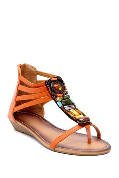 Carrini Stone Embellished Sandal