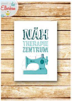 NÄH-THERAPIE-ZENTRUM+•+Kunstdruck+Poster+Plakat+von+die+elberbsen+auf+DaWanda.com