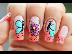 Blue is an elegant and always fashionable color: manicure enthusiasts cannot leave it aside for the next season! What are the most beautiful blue nail art? Fingernail Designs, Nail Polish Designs, Nail Art Designs, Butterfly Nail Art, Flower Nail Art, Bridal Nail Art, Nails For Kids, Pedicure Nail Art, French Tip Nails