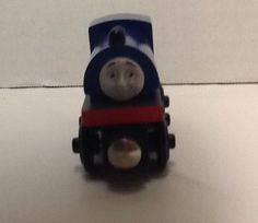 Wilbert Thomas and Friends Wooden Railway Gullane 2003 Train Car Blue Red #Gullane